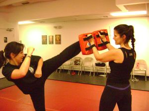 Boca kickboxing class - High kick
